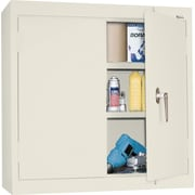 Sandusky Solid Double Door Cabinet, Putty