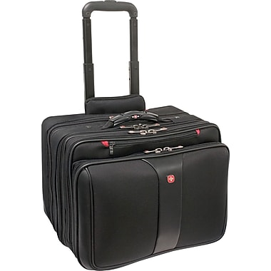 SWISSGEAR® Patriot Wheeled Laptop Case, Black, 17in
