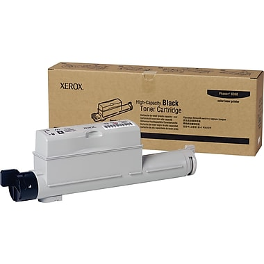 Xerox Phaser 6360 Black Toner Cartridge (106R01221), High Yield