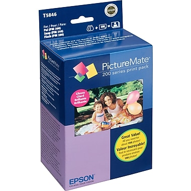 Epson T5846 Ink Cartridge & 150 Sheets Glossy Photo Paper