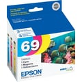 Epson 69 Color Ink Cartridges (T069520), 3/Pack
