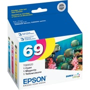 Epson 69 Color C/M/Y Ink Cartridges (T069520), Combo 3/Pack