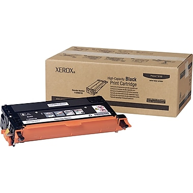 Xerox Phaser 6180/6180MFP Black Toner Cartridge (113R00726), High Yield