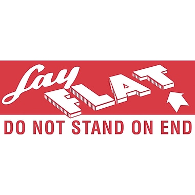 Tape Logic Lay Flat - Do Not Stand On End Staples® Shipping Label, 5in. x 2in., 500/Roll