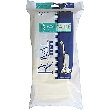 Royal® Type D Micron Vacuum bags, 7/Pack