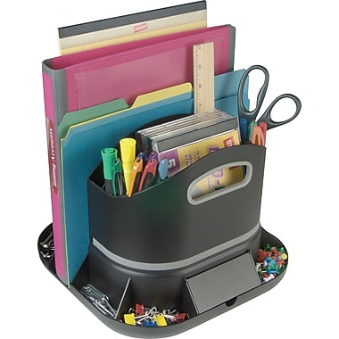Staples 14470 us spinworx rotating desk organizer staples - Spinning desk organizer ...