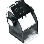 Rolodex® Expressions Black Wire Mesh Open Card File