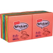 "Staples® Stickies™ Notes, 3"" x 3"", Bright Colors, 12 Pads/Pack (S-33BR12)"