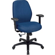 Office Star 2-to-1 Fabric Manager's Chair, Navy
