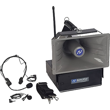 Amplivox Wireless Half-Mile Hailer Portable PA