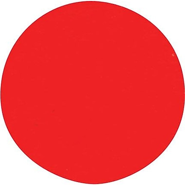 Avery® 5466 Round 3/4in. Diameter Print & Write Color Coding Labels, Red