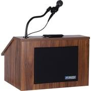 AmpliVox Sound Systems EZ Speak Portable Lectern, Walnut (S272-WT)