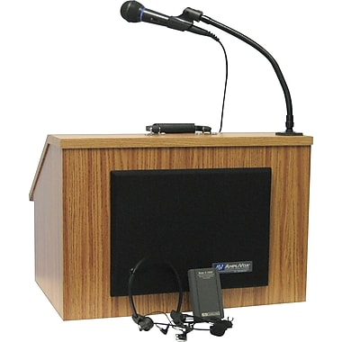 AmpliVox Sound Systems EZ Speak Folding Lectern, Medium Oak (SW272-OK)