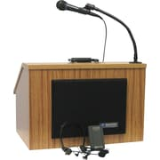 Amplivox EZ Speak Folding Wireless Lectern w/Carrying case (Walnut)