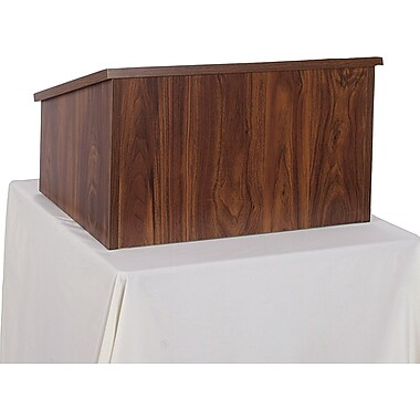 Amplivox Non-Sound Modular Tabletop Lectern (Walnut)