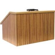 Amplivox Non-Sound Modular Tabletop Lectern (Medium Oak)