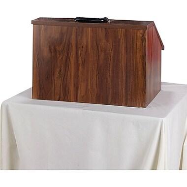 Amplivox Non-Sound Modular Folding Tabletop Lectern  (Mahogany)