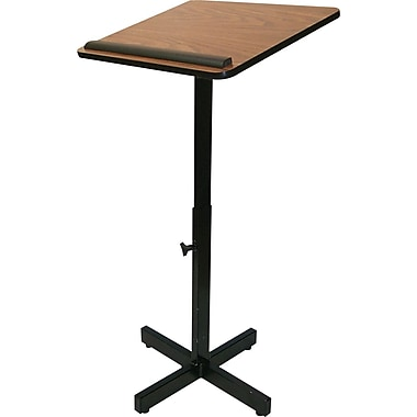 Amplivox Adjustable Lectern Stand (Walnut)