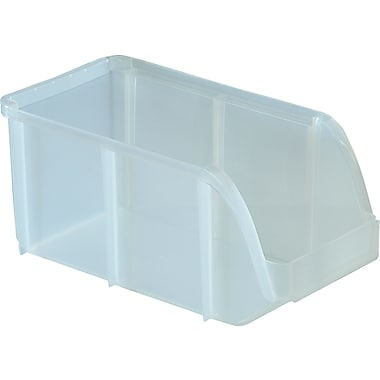 Staples Clear Stacking Bin, Medium