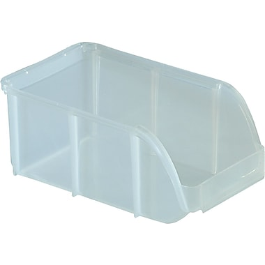 Staples Clear Stacking Bin, Small