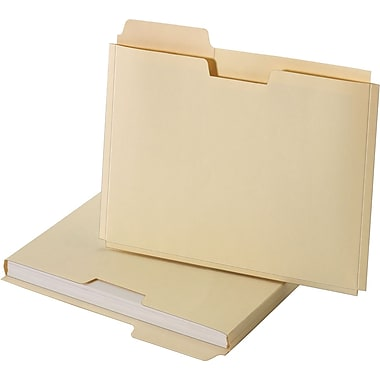 Staples® File Folder Jackets, Letter, Manila, 150 Sheet Capacity, 10/Pack