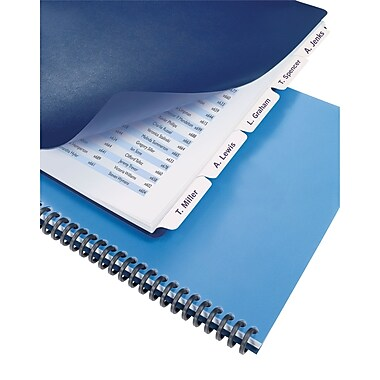 GBC® Customizable Index Tabs - 8-Tab, White