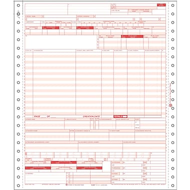 UB-04 Hospital Claim Form for Dot-Matrix Printers, 4-Part