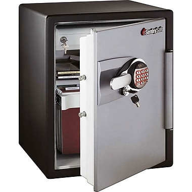 Sentry&reg 2.0 cu. ft. Water/Fire-Resistant Electronic with Key Lock Safe