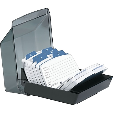 Rolodex Petite Covered Card File, 250 Cards