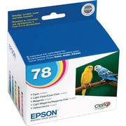 Epson 78 Color C/M/Y/LC/LM Ink Cartridges (T078920), Combo 5/Pack