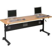Balt 6' Laminate Flipper Training Table, Teak