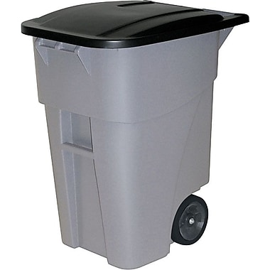 Rubbermaid Square Brute® Big Wheel Container with Lid, 50 gal.