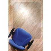 "Floortex® Cleartex Ultimate Polycarbonate Rectangular Chair Mat F/Low/Medium Pile Carpets, 20"" x 10"""