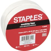 "Staples Masking Tape, .9"" x 60 Yards, 4/Pack (468413-CC)"