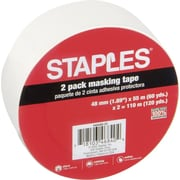 "Staples® Masking Tape, 2"" x 60 Yards"