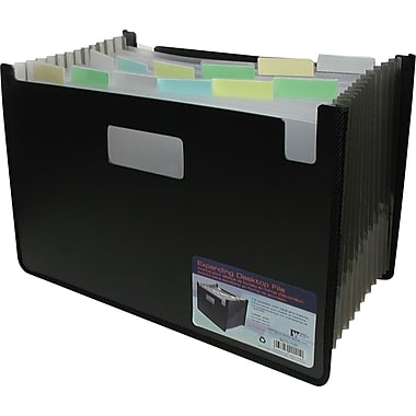 Winnable 13-Pocket Poly Expanding Desktop File, Legal