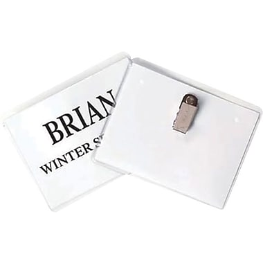 C-line® Reusable Clear Plastic Name Badge Holders