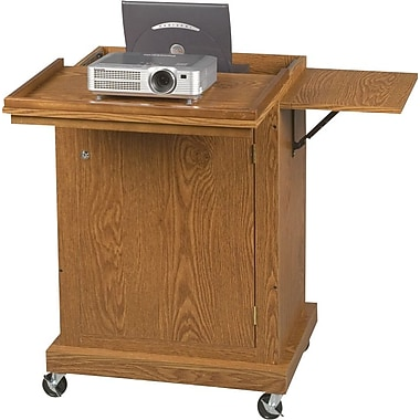 Balt® Champ AV Cart, Medium Oak