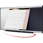 Quartet® 4' x 2' Prestige® Total Erase® 3-in-1 Combination Board