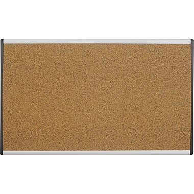 Quartet® 24in. x 14in. Arc Cubicle Cork Board
