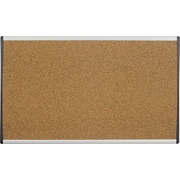 "Quartet® 24"" x 14"" Arc Cubicle Cork Board"