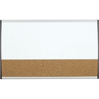 Quartet® 30in. x 18in. Arc Combination Dry-Erase Board/Cork Board