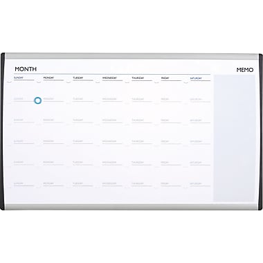 Quartet® 30in. x 18in. Arc Cubicle Magnetic Dry-Erase Calendar