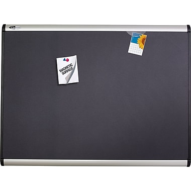 Quartet® 4' x 3' Prestige Plus® Magnetic Fabric Bulletin Board with Aluminum Frame
