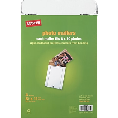 Staples® Photo Mailers, 8-3/4