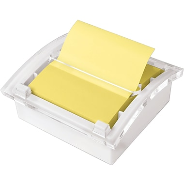 Post-it® 3in. x 3in. Designer Series Pop-Up Note Dispenser with White Base, Each