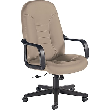 Global Custom Leather Manager's Chair, Latte