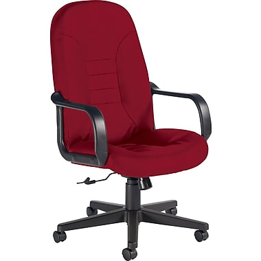 Global Custom Leather Manager's Chair, Rouge