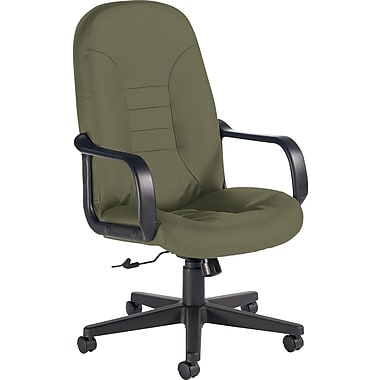 Global Custom Leather Manager's Chair, Jade