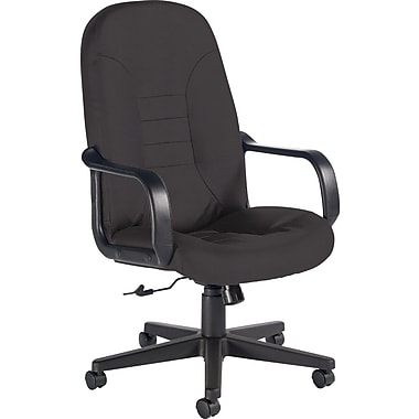 Global Custom Leather Manager's Chair, Graphite